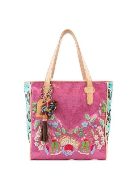 Consuela Consuela Sola Classic Tote In Pink Glitter Jelly