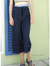 Effie's Heart Effie's Heart Rue Cropped Pants In Denim