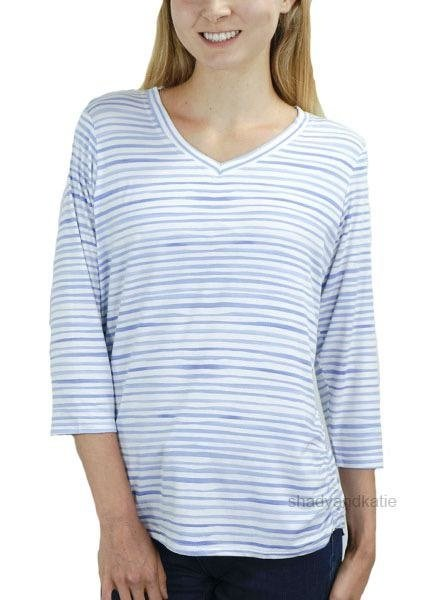 French Dressing French Dressing Top In Chambray Stripes