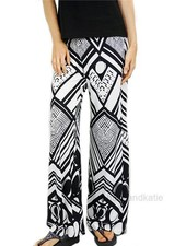 The Geo Palazzo Pant in Black and White
