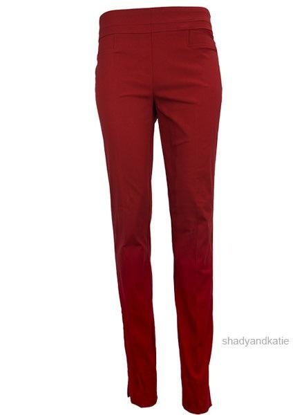 Renuar The Long Cigarette Pant In Ruby