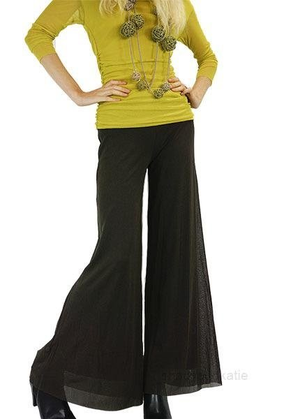 Petit Pois Palazzo Pants In Brown