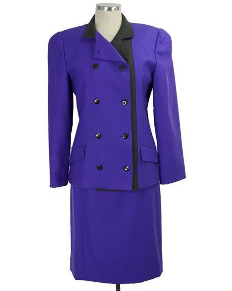 Vintage Louis Feraud Purple Suit