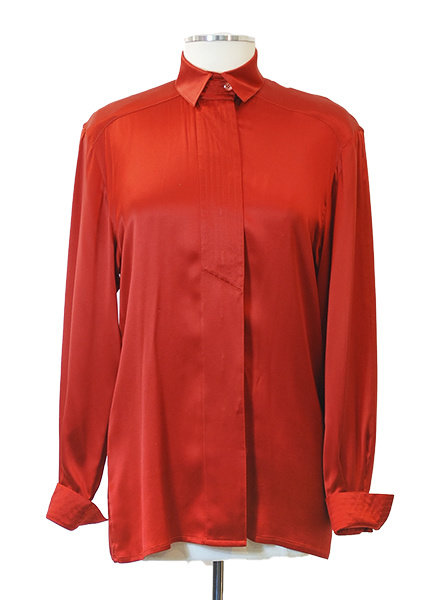 Vintage Red Silk Escada Blouse