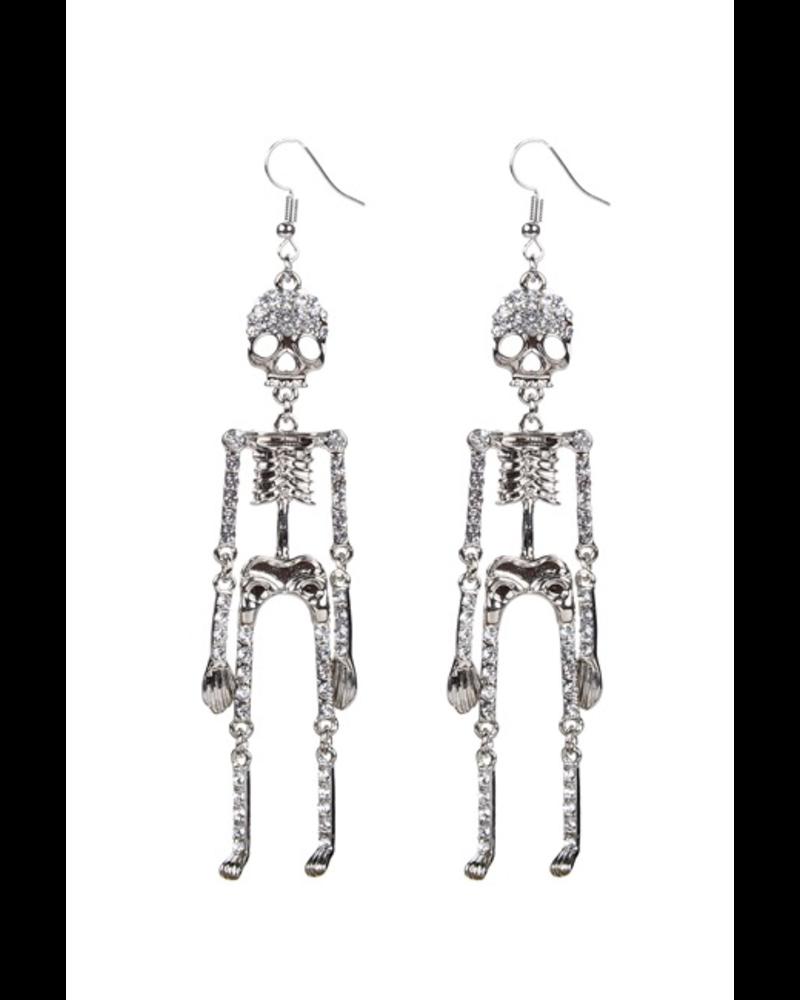 Skeleton & Crystals Earrings