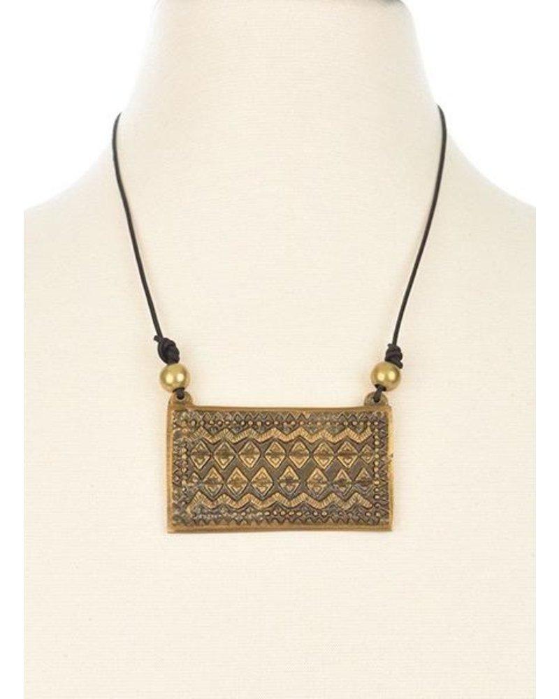 Ink + Alloy Brass Pendant
