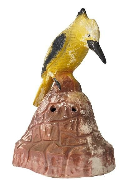 Vintage Chalkware Bird Cloche