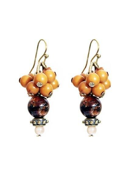 Treska Small Cluster Drop Earrings