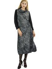Sun Kim Berlin Skirt In Grey Crack