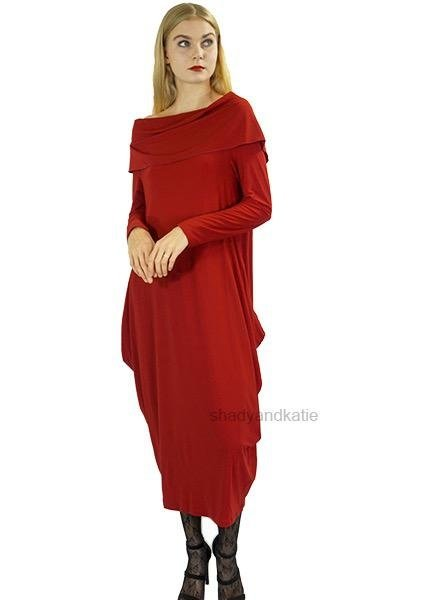 Comfy's Sun Kim MaryAnn Dress In Lipstick