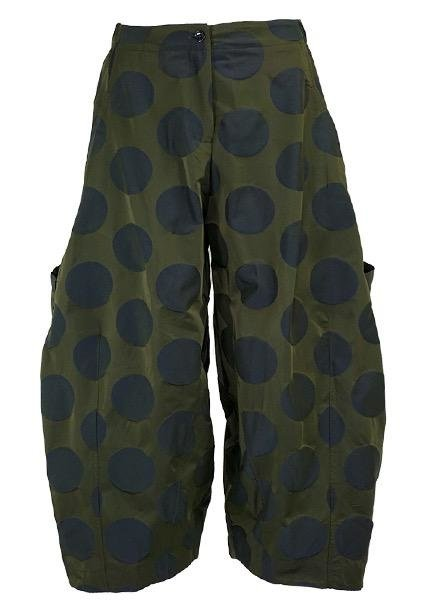 Sum Kim's 2 Pocket Ankle Pant In Navy Dot
