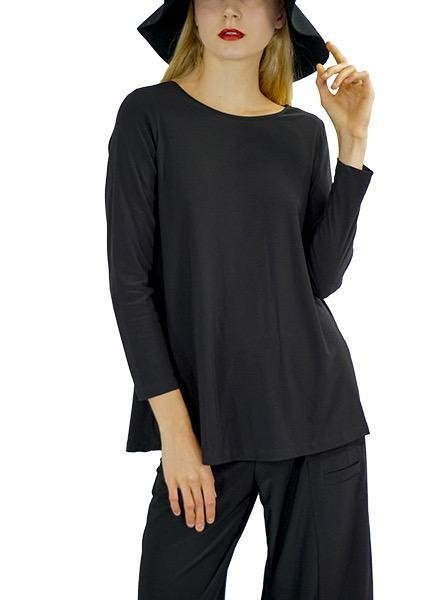Comfy's Sun Kim Tunic in Black Stretch Jersey