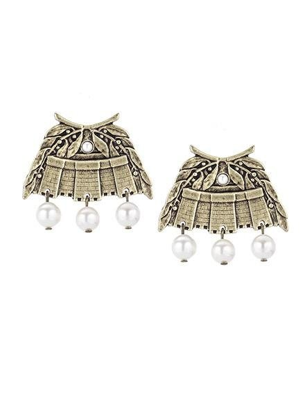 French Kande French Kande Brass Chateau Earrings & Pearls