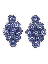 KVZ Nine Tiny Medallion Earrings In Greek Holiday