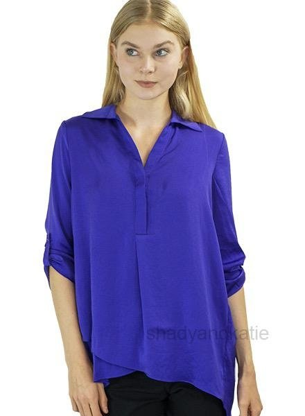 Renuar Renuar's Soft And Beautiful Blouse In Viola