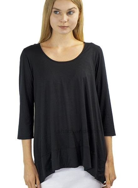 Just Jill Leslie Tunic In Black