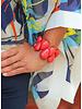 Tagua Raindrop Bracelet In Natural Ivory