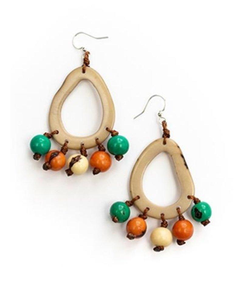 Tague Julieta Earrings In Cafe Con Leche