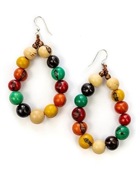 Tagua Shirley Earrings In Multi-Colors