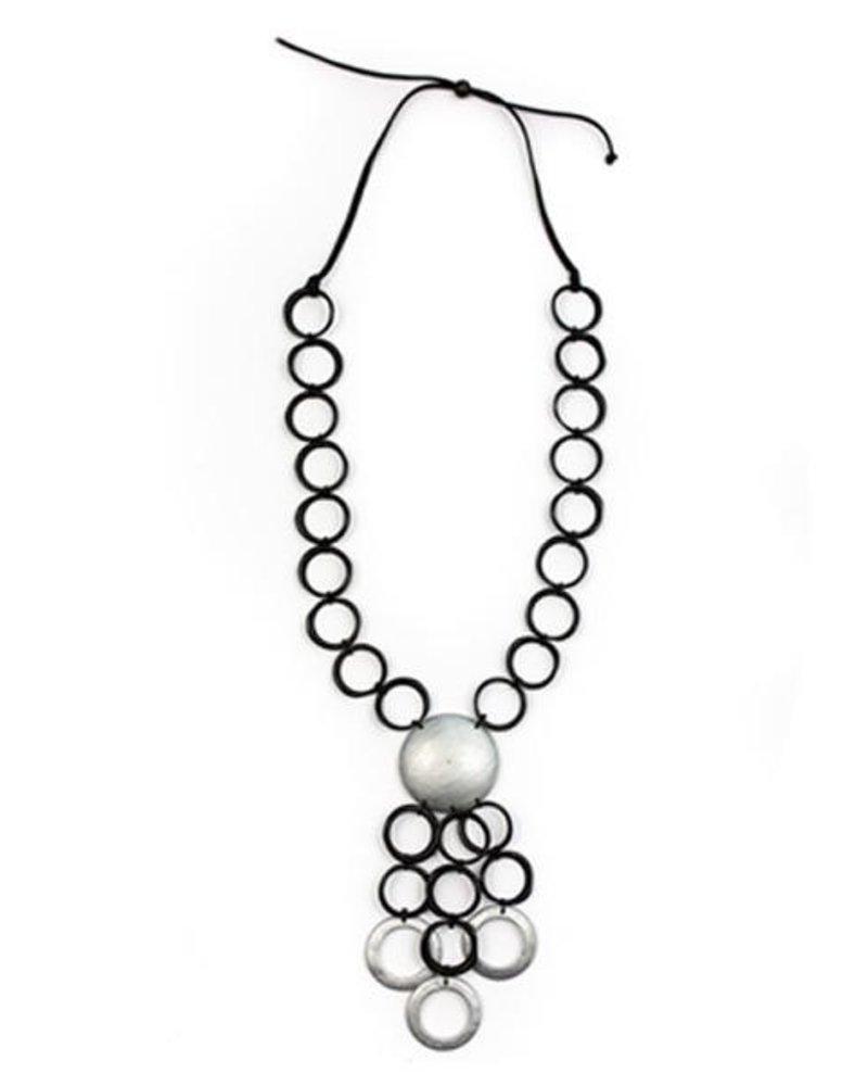 Tagua Vivi Necklace In Black Combo