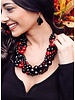 Tagua Semilla Necklace In Black, Ivory Combo