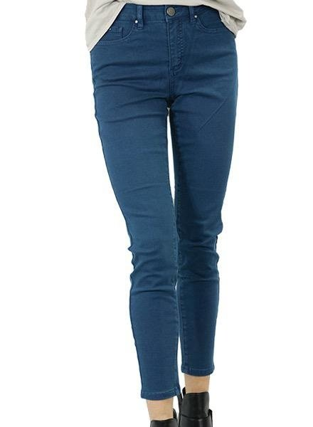 French Dressing French Dressing Olivia Slim Ankle Pant In Teal