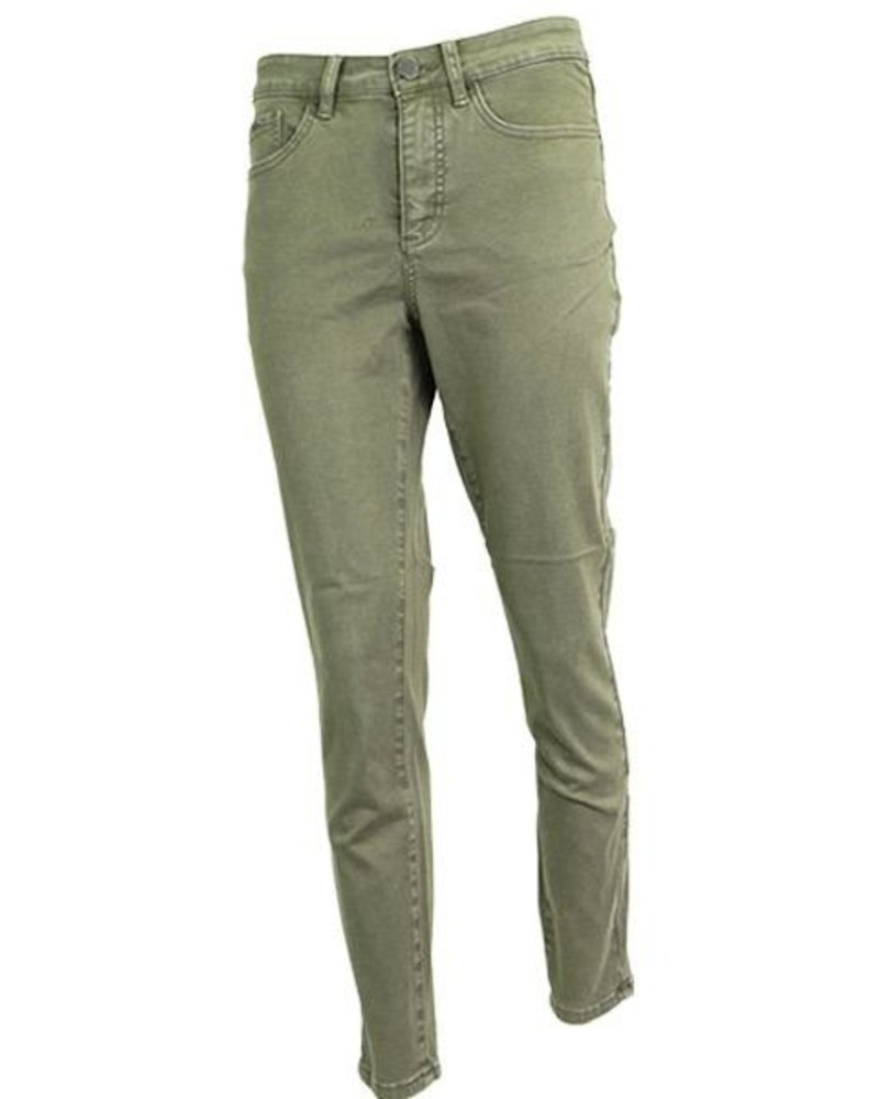 French Dressing French Dressing Olivia Slim Ankle Pant In Olive