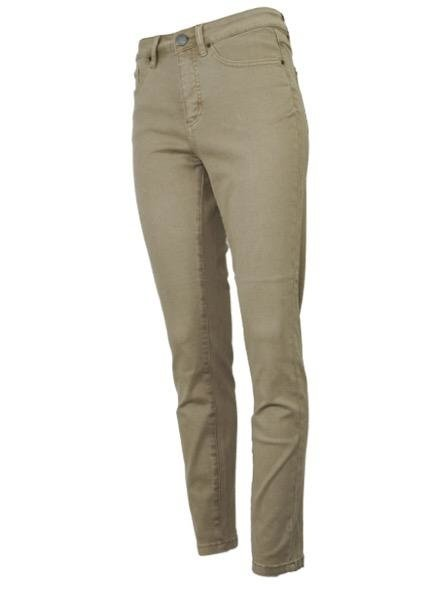 French Dressing French Dresssing Olivia Slim Ankle Pant In Khaki