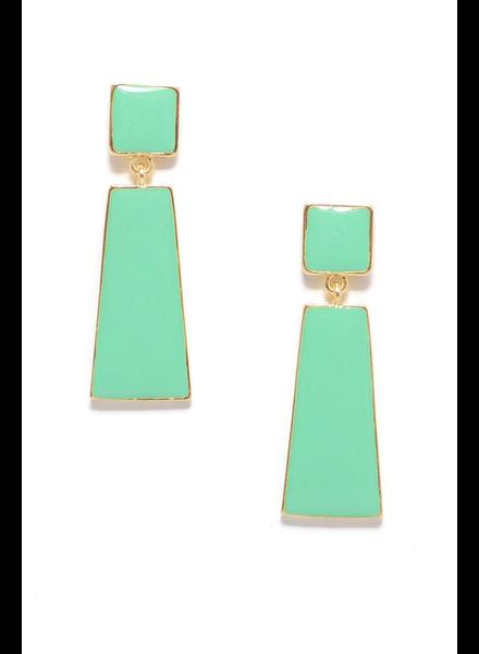 Hue Go Girl Earrings In Mint
