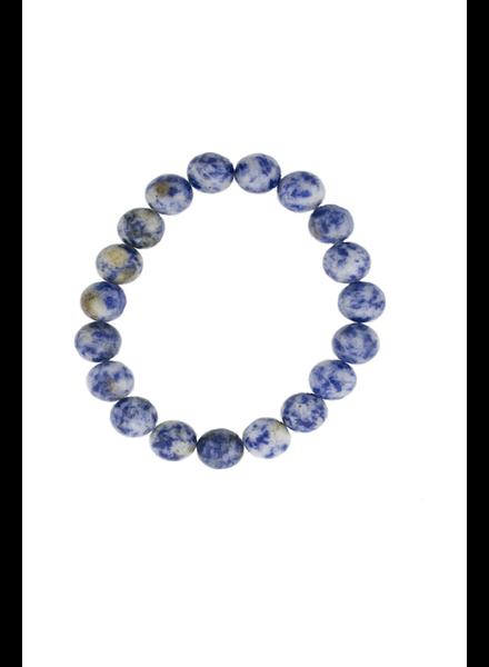 Sodalite Matte Stone Stretch Bracelet
