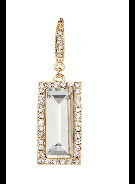 Windowpane Clear Crystal Earrings