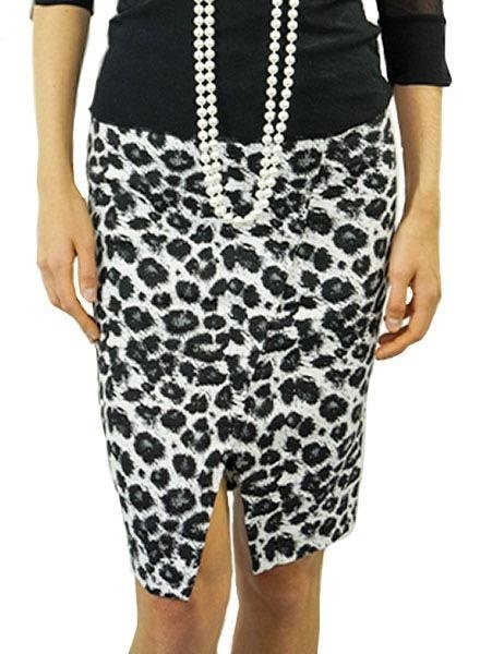 Renuar Renuar's Leopard Pencil Skirt