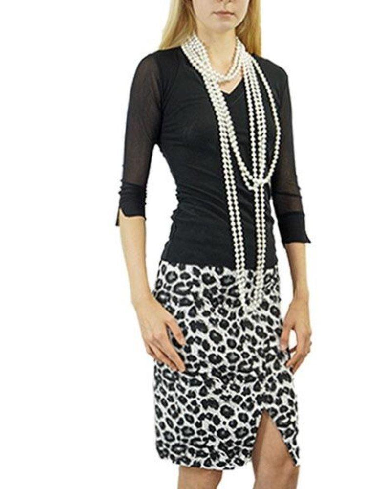Renuar Renuar's Leopard Pencil Skirt
