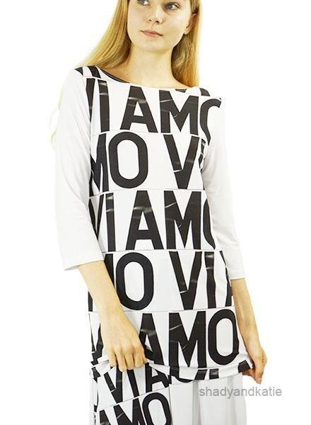 Le Galeriste Patti Tunic In Vi Amo