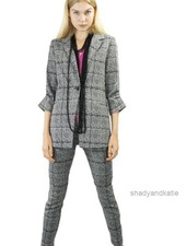 Renuar Renuar Melange Check Jacket In Black & White