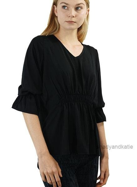 Renuar Renuar's Gathered Top In Black