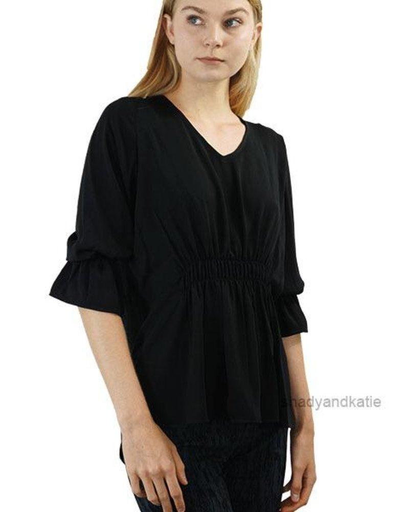 Renuar Renuar's Gathered Top In Black