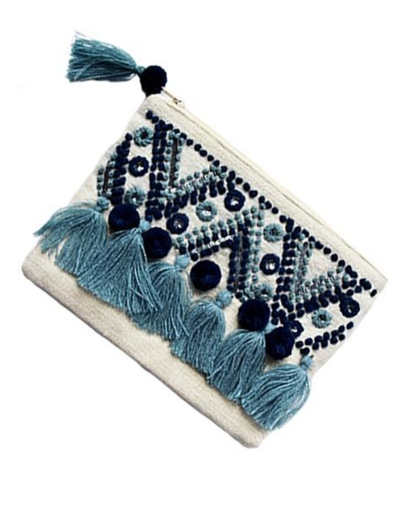 The Chrissy Pouch Bag In Blue