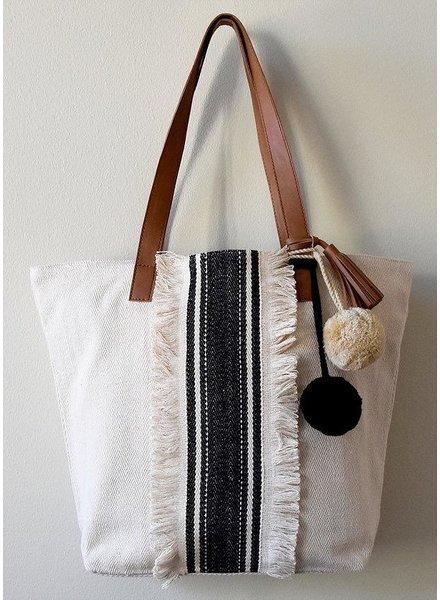 The Sarna Tote Bag In Black