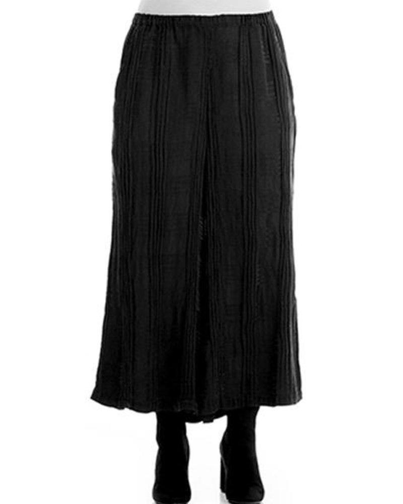 Griza Wide Slik Patterned Trousers In Black