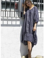 Betty Hadikusumo Betty Hadikusumo Kattie Dress In Denim Linen