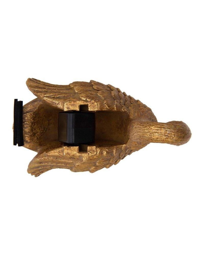 Gold Resin Swan Tape Dispenser