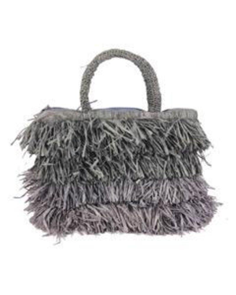 Shebobo The Shebobo Fringe Bag In Grey