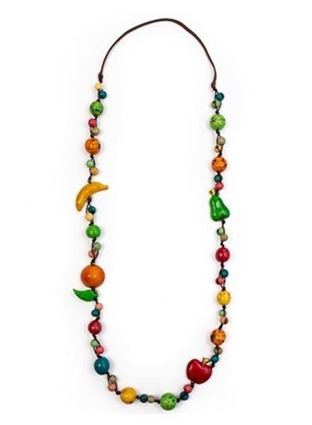 Tagua Long Mixed Fruit Necklace