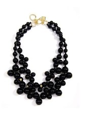 Chunky Black Pearl Bib Necklace