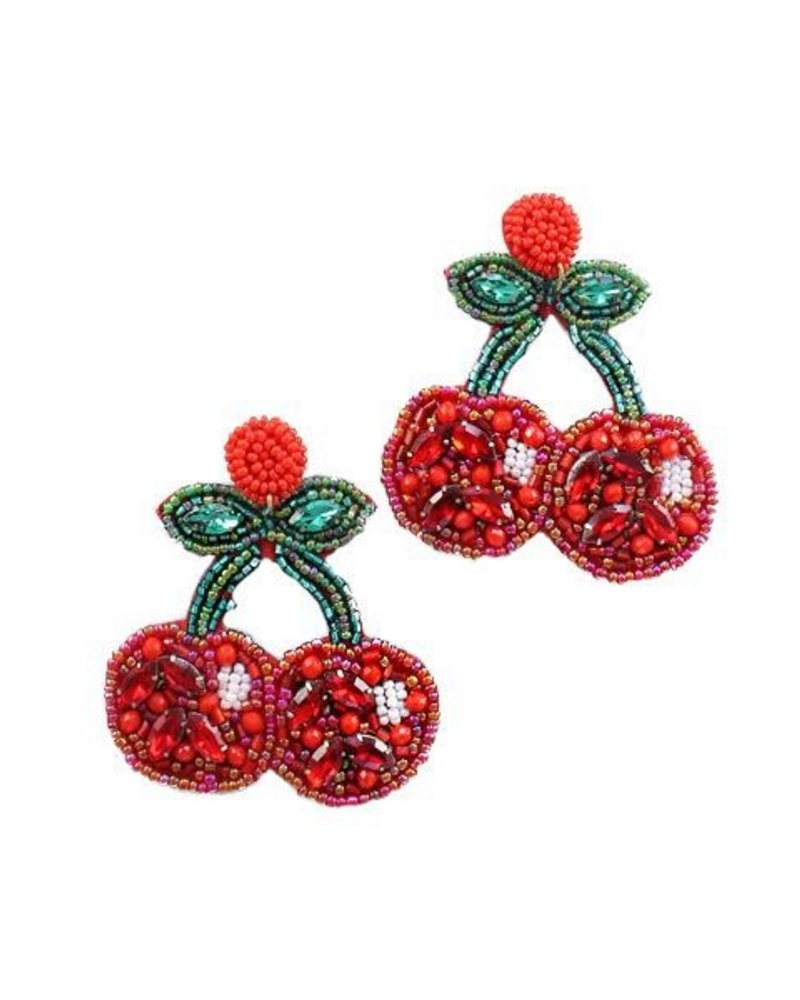 Jeweled Cherry Earrings