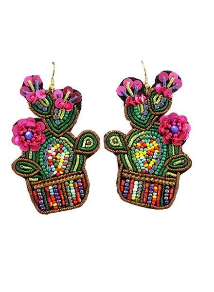 Beautiful Cactus Earrings