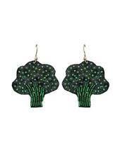 Beaded Broccoli Earrings