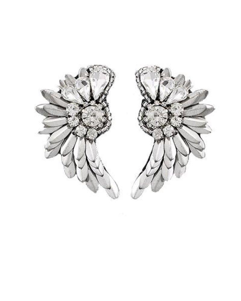Jeweled Wing Earrings