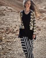 Alembika Alembika Punto Pant In Black & Silver Stripe